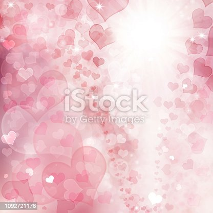 896306118istockphoto Valentine Hearts Abstract Pink Background. 1092721176