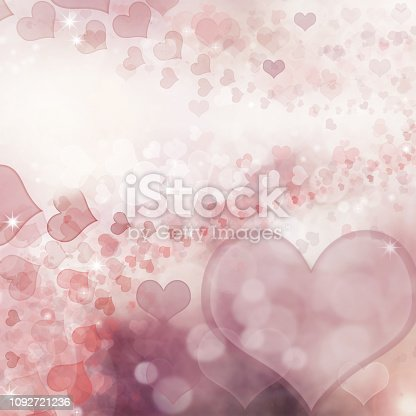 896306118istockphoto Valentine Hearts Abstract Pink Background. 1092721236