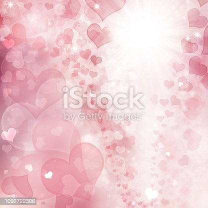 896306118istockphoto Valentine Hearts Abstract Pink Background. 1092722306