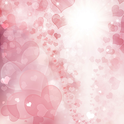 896306118 istock photo Valentine Hearts Abstract Pink Background. 1092722306