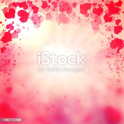 896306118istockphoto Valentine Hearts Abstract Pink Background. 1092722398