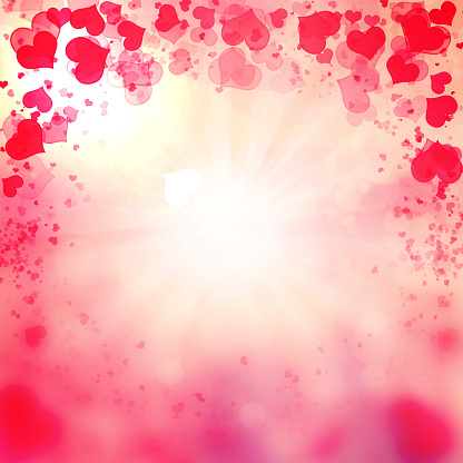 896306118 istock photo Valentine Hearts Abstract Pink Background. 1092722398