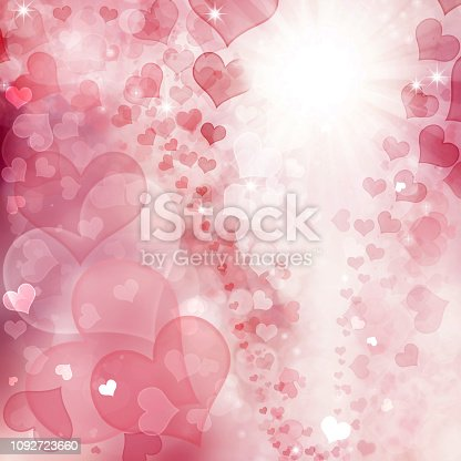 896306118istockphoto Valentine Hearts Abstract Pink Background. 1092723660