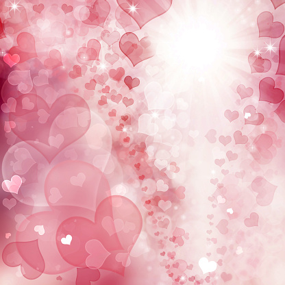 896306118 istock photo Valentine Hearts Abstract Pink Background. 1092723660