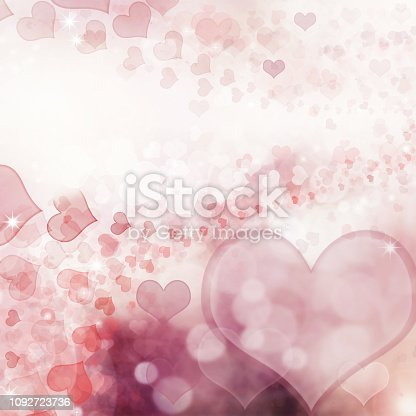 896306118istockphoto Valentine Hearts Abstract Pink Background. 1092723736