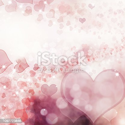 896306118istockphoto Valentine Hearts Abstract Pink Background. 1092723846