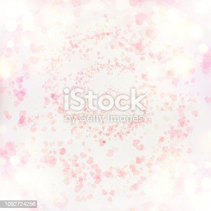 896306118istockphoto Valentine Hearts Abstract Pink Background. 1092724256