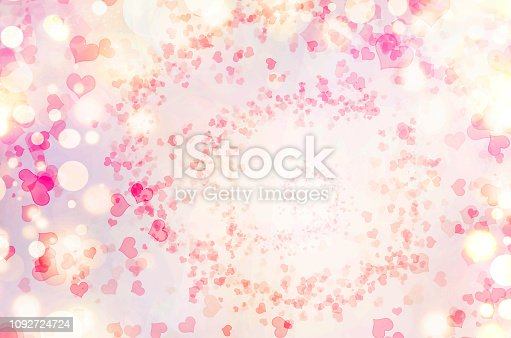 896306118istockphoto Valentine Hearts Abstract Pink Background. 1092724724