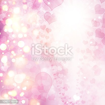 896306118istockphoto Valentine Hearts Abstract Pink Background. 1092725018