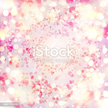 896306118istockphoto Valentine Hearts Abstract Pink Background. 1092725100