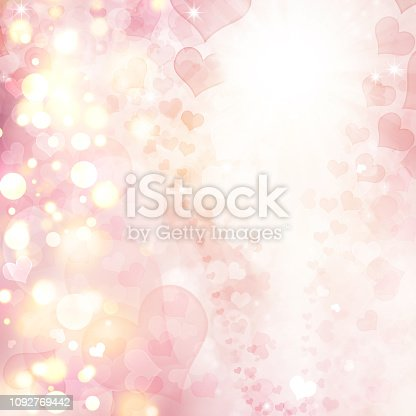 896306118istockphoto Valentine Hearts Abstract Pink Background. 1092769442