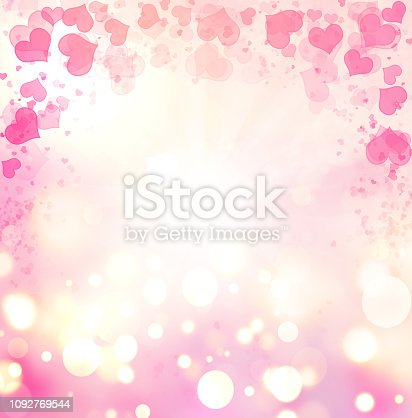 896306118istockphoto Valentine Hearts Abstract Pink Background. 1092769544