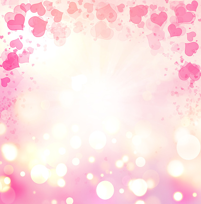 896306118 istock photo Valentine Hearts Abstract Pink Background. 1092769544