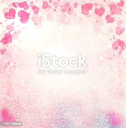 896306118istockphoto Valentine Hearts Abstract Pink Background. 1092769806