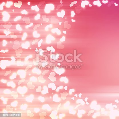 896306118istockphoto Valentine Hearts Abstract Pink Background. 1093702936