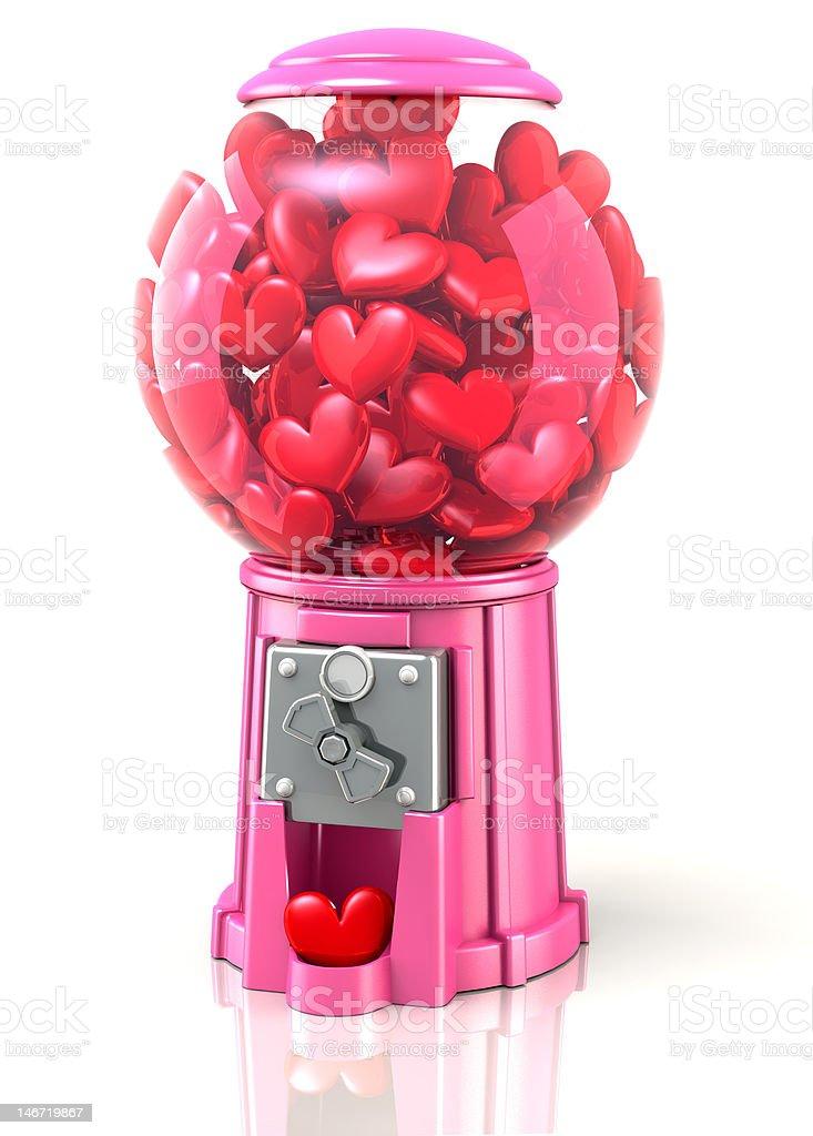 Valentine Hearts Gumball Machine stock photo