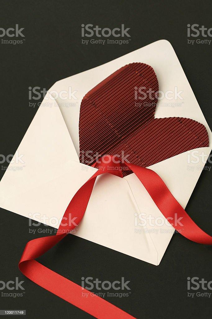 valentine letter royalty-free stock photo
