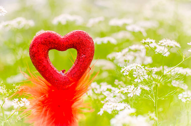 Valentine love symbol outdoor stock photo
