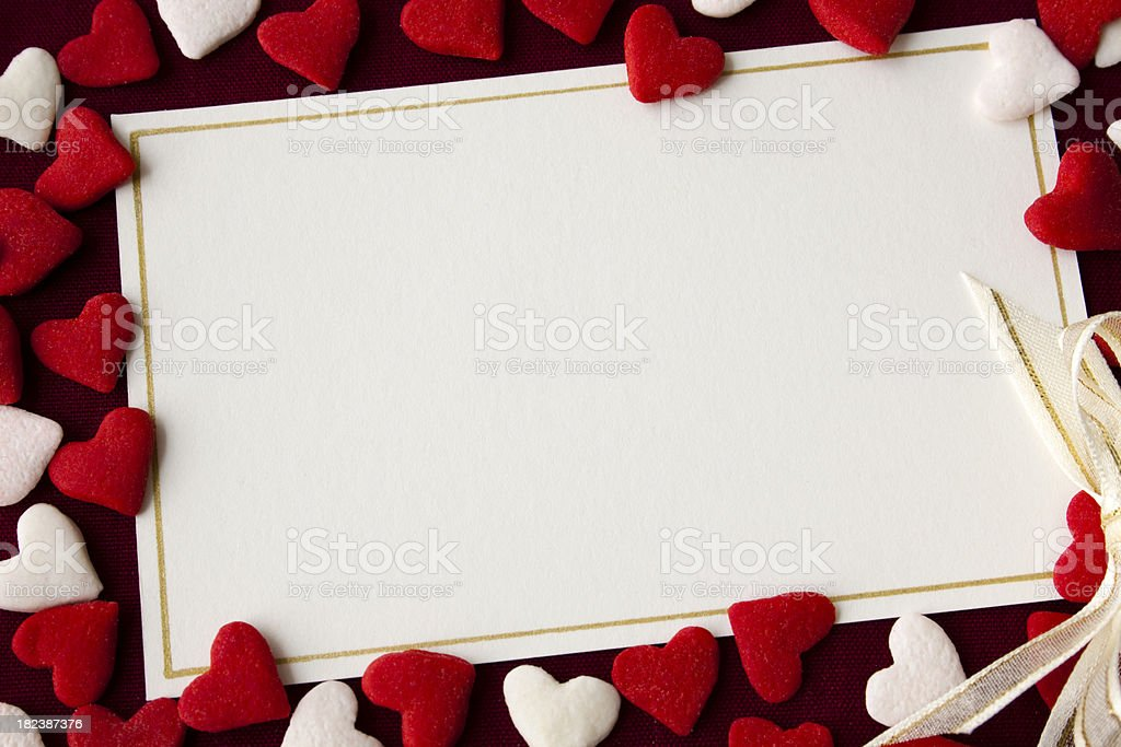 Valentine Note Card stock photo