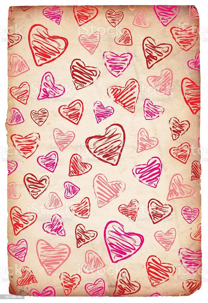 Valentine Paper Grunge - XXXL stock photo