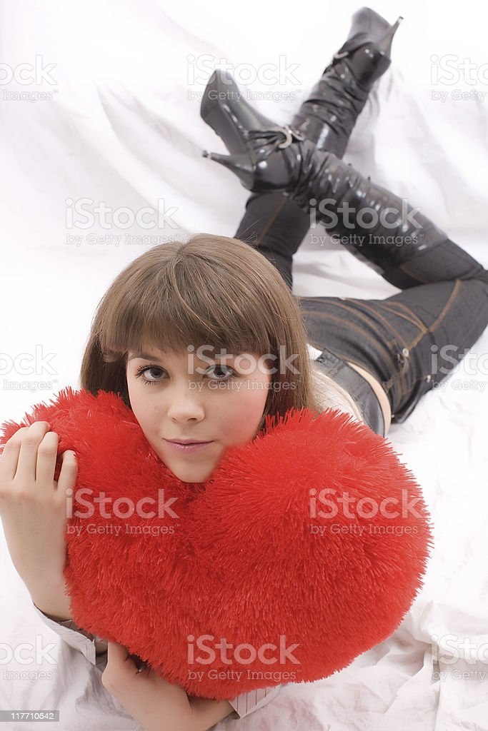 Valentine' s Day - Young Beauty: loving stock photo