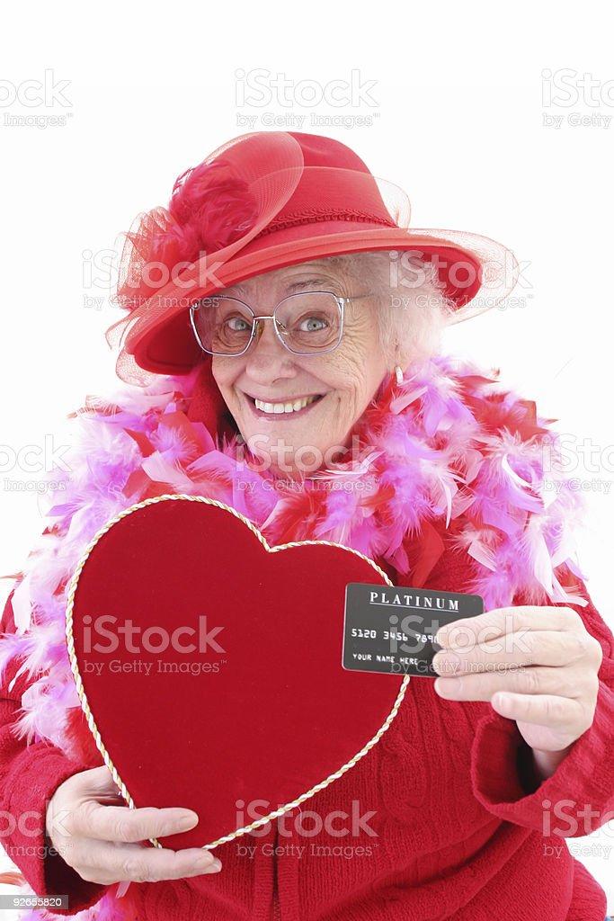 Valentine Shopping royalty-free stock photo