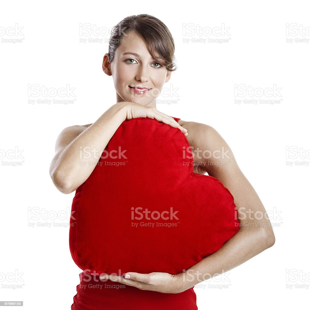 Valentine woman royalty-free stock photo