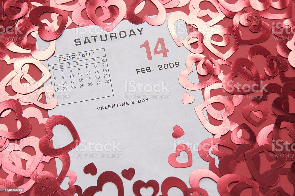 Valentine's 2009 Save the Date royalty-free stock photo