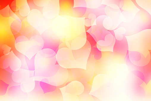 896306118 istock photo Valentines blurred harts colorful background. 893379010