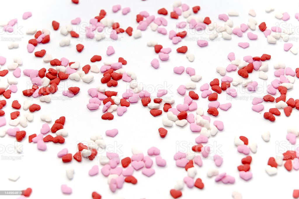 Valentine's Candy Hearts royalty-free stock photo