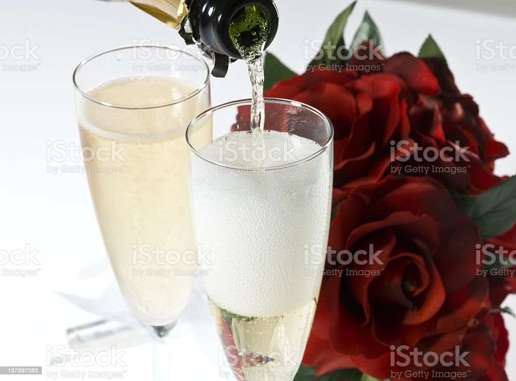 Valentines Champagne for Two royalty-free stock photo