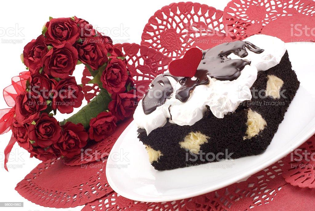 Valentines Chocolate Cream Cake royalty-free stock photo