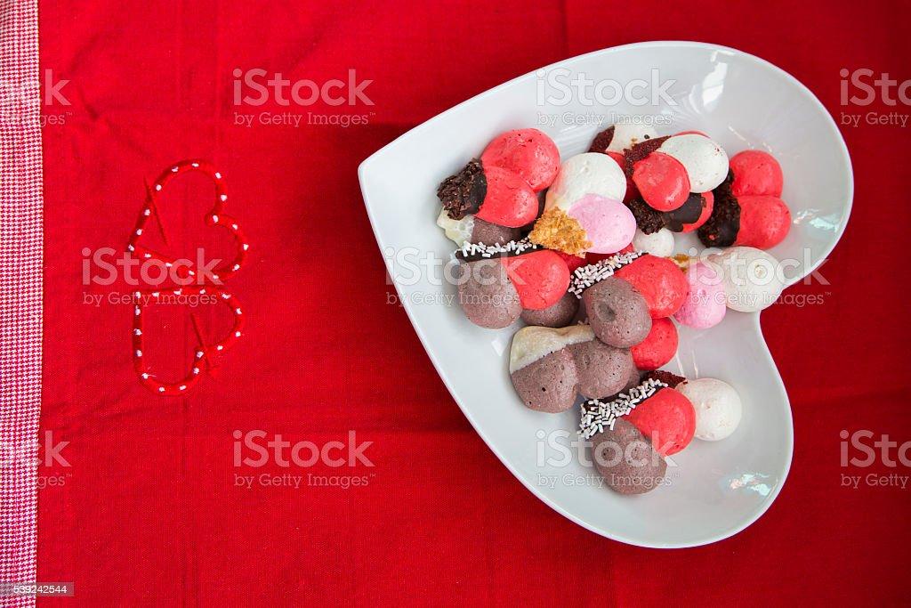 Valentines las cookies foto de stock libre de derechos