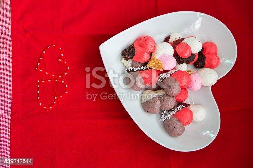 Fotografía de Valentines Las Cookies y más banco de imágenes de Alimento