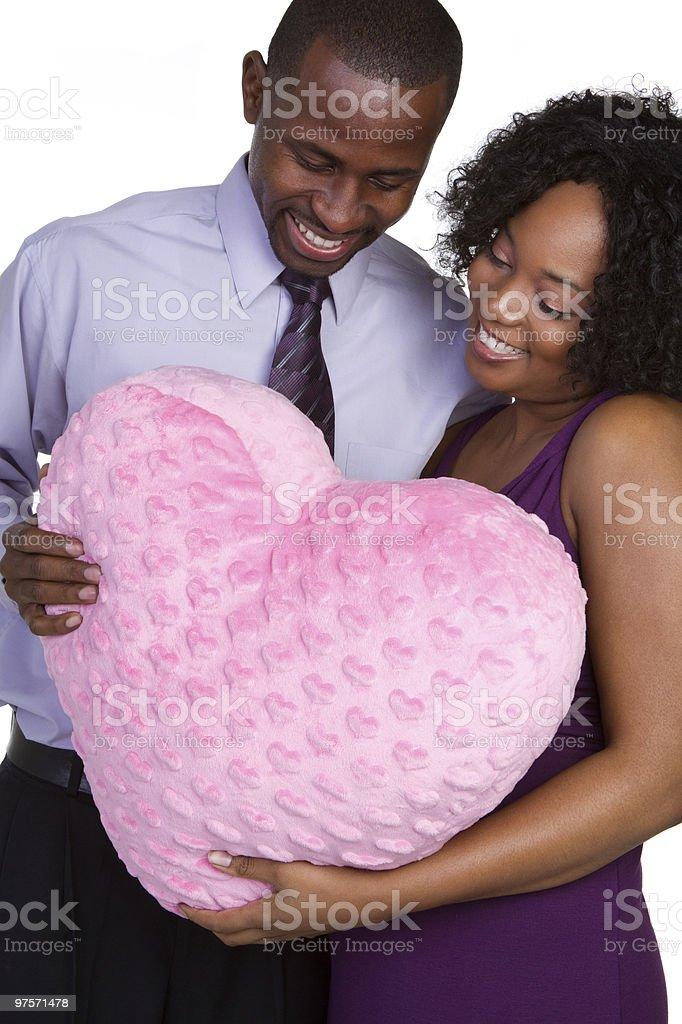 Couple de la Saint-Valentin photo libre de droits
