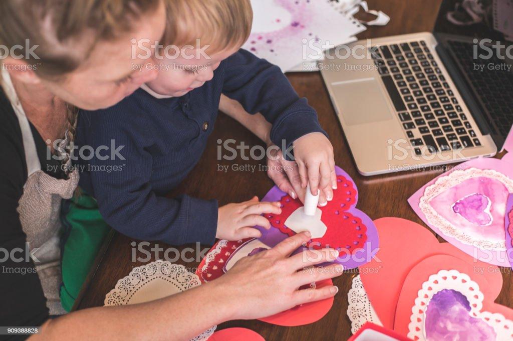 Valentines Crafts stock photo