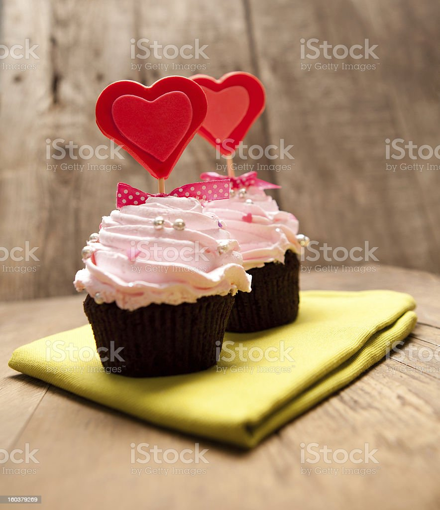 Valentine's Cupcakes royalty-free stock photo