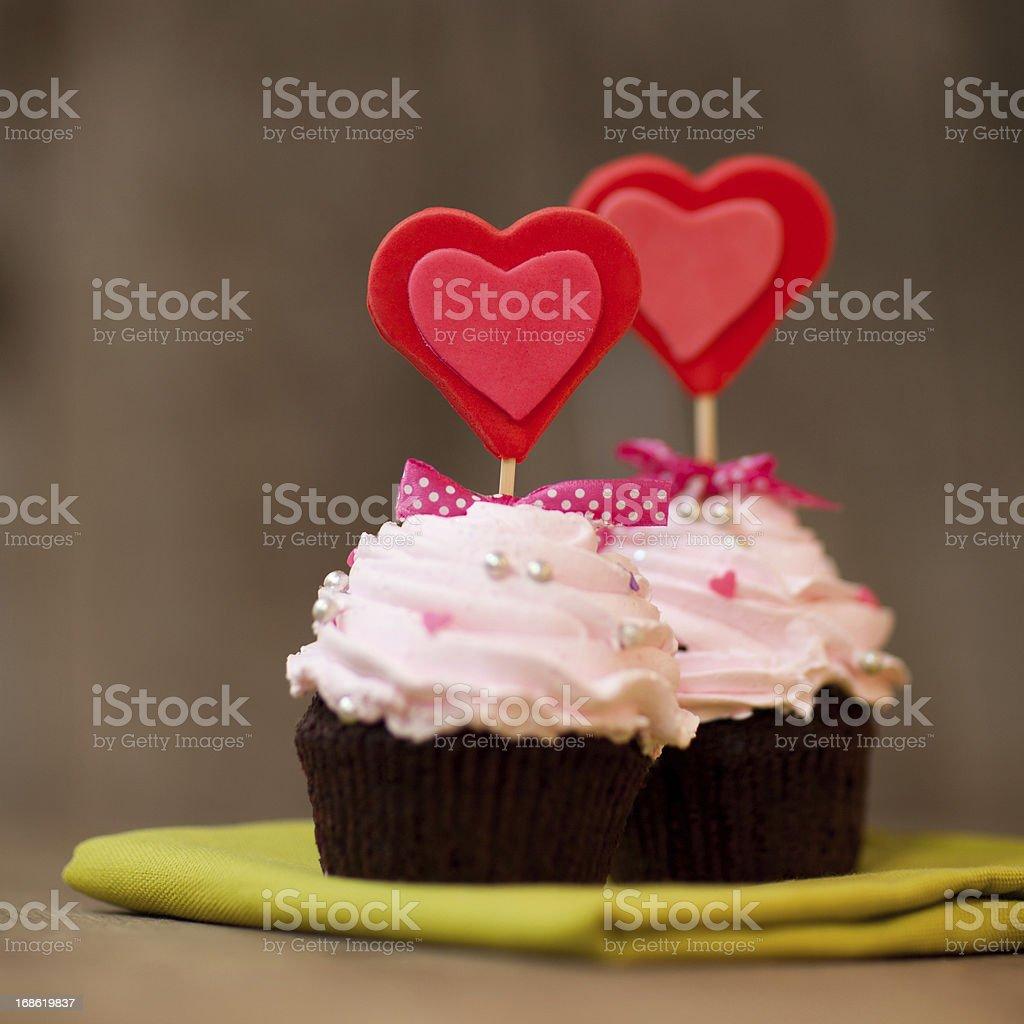 Valentine's Cupcakes royalty-free stock photo