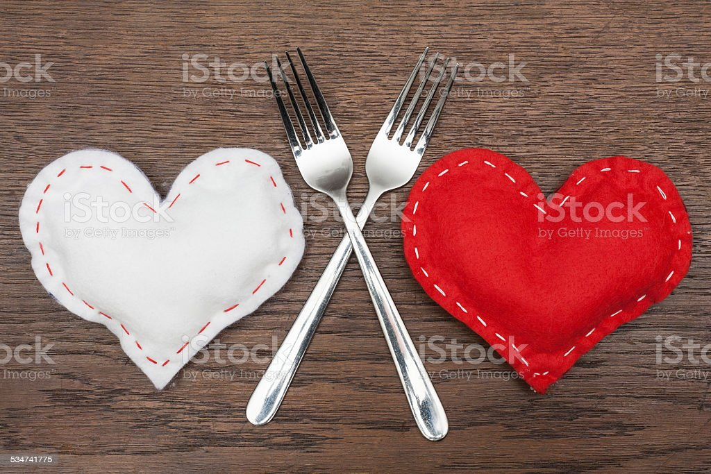 Valentine's Day - Abstract - Romantic dinner for two. stock photo