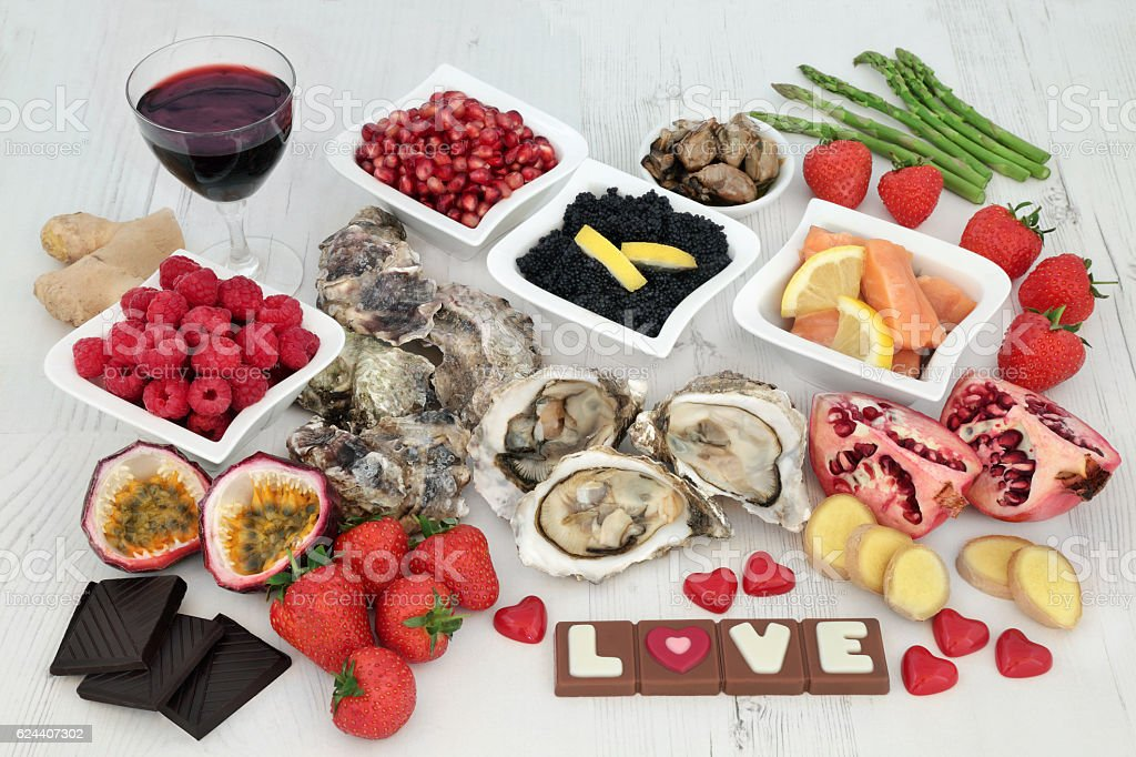 Valentines Day Aphrodisiac Food stock photo
