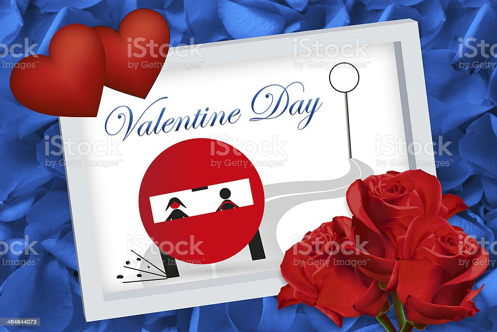 Valentine's Day background blue stock photo