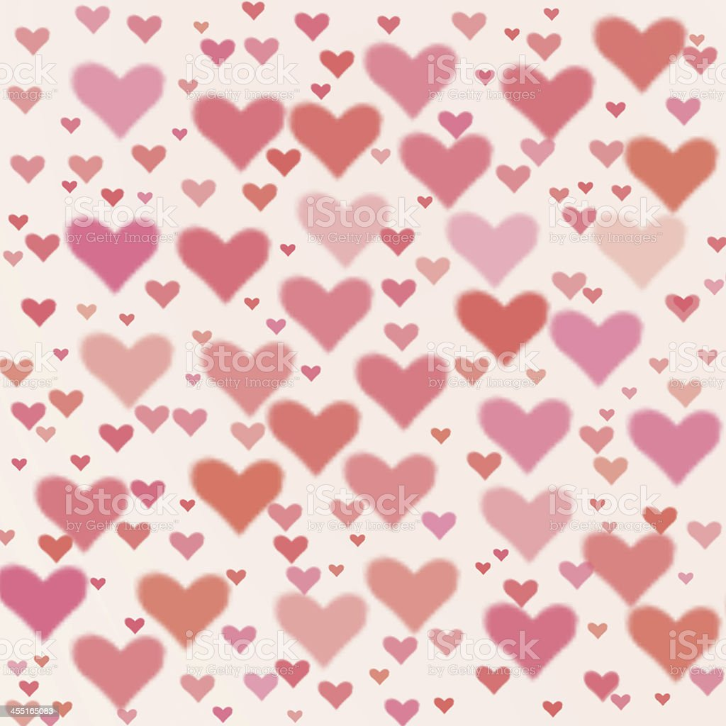 Valentine's day background with hearts royalty-free stock photo