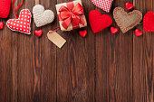 バレンタインデーのハートの背景