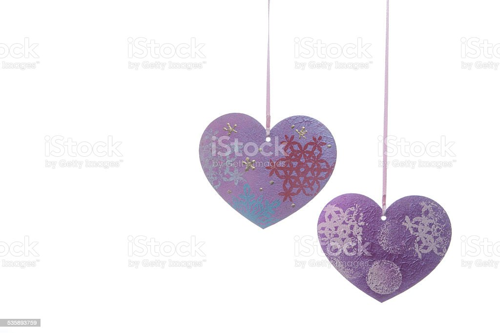 Valentines Day background with hearts stock photo