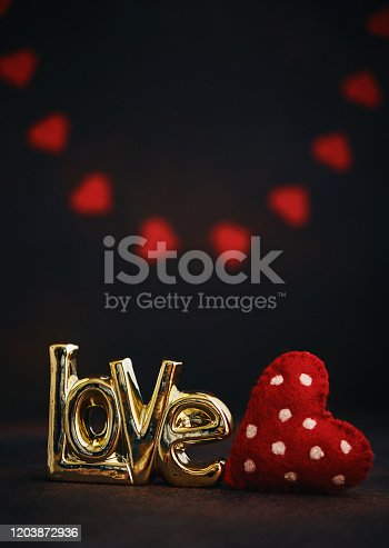 Valentine's Day background with LOVE and heart