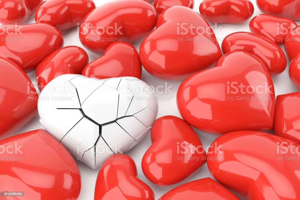 Valentines Day Background With The Broken Heart Concept Stock Photo