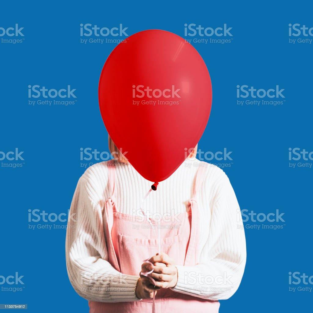 Valentines day balloon stock photo