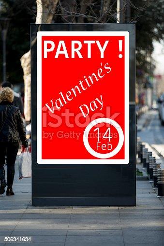 507397624 istock photo Valentine´s day billboards at city street 506341634