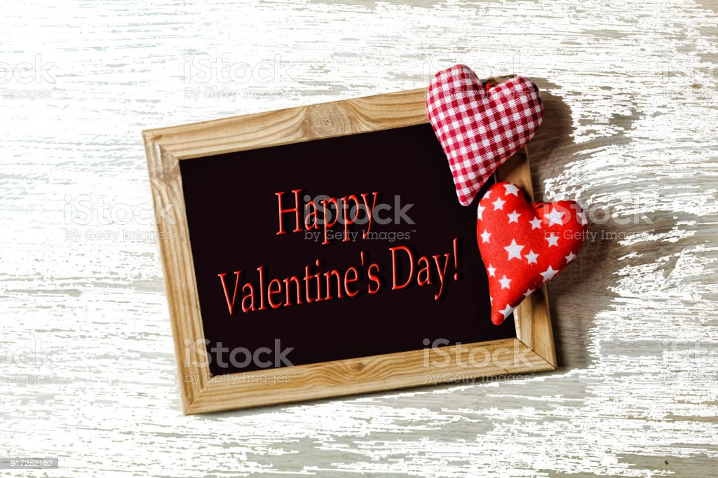 Fotografía de Día De San Valentín En Blanco Marco Dos Corazones Amor ...
