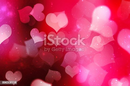 istock Valentines day blurred hearts background. 896306118